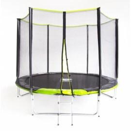 """Батут """"Fitness Trampoline GREEN"""" (8 FT) Extreme с внешней сеткой и лестницей (усиленные опоры). Диаметр - 252 см. Нагрузка - 120 кг."""
