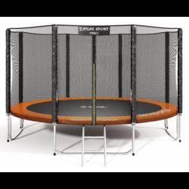 """Батут """"Atlas Sport"""" (13ft) PRO ORANGE с внешней сеткой и лестницей(усиленные опоры). Диаметр - 404 см. Нагрузка - 180 кг."""
