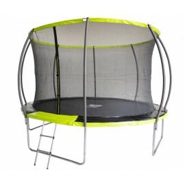 "Батут ""Fitness Trampoline GREEN"" (10 FT) Extreme Inside с внутренней сеткой и лестницей. Диаметр - 312 см. Нагрузка - 150 кг."
