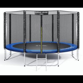 """Батут """"Atlas Sport"""" (13ft) PRO BLUE с внешней сеткой и лестницей(усиленные опоры). Диаметр - 404 см. Нагрузка - 180 кг."""