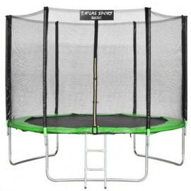 """Батут """"Atlas Sport"""" (10 ft) GREEN с внешней сеткой и лестницей. Диаметр - 312 см. Нагрузка - 150 кг."""