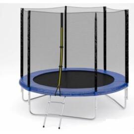 "Батут ""Fitness Trampoline"" (8 FT) Standart с внешней сеткой и лестницей. Диаметр - 252 см. Нагрузка - 120 кг."
