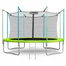 """Батут """"Atlas Sport"""" (14ft) GREEN с внутренней сеткой и лестницей. Диаметр - 435 см. Нагрузка - 180 кг."""