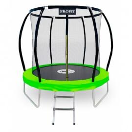 """Батут """"ProFit Premium Green"""" (8 ft) с внутренней сеткой и лестницей. Диаметр - 252 см. Нагрузка - 120 кг."""