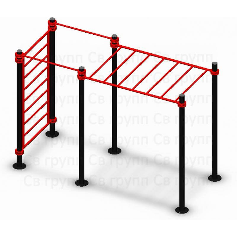 Спортивный комплекс Sv Sport воркаут (workout) квадрат + лестница + рукоход