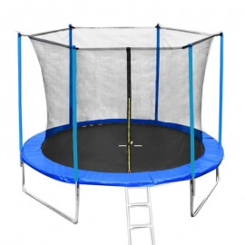 Батут Funfit 312 см - 10ft с внутренней сеткой и металлической лестницей