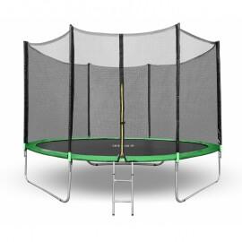 "Батут ""Happy Jump"" (10ft) PRO с внешней сеткой и лестницей. Диаметр - 312 см. Нагрузка - 150 кг."