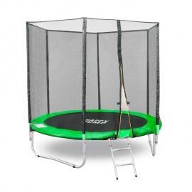 "Батут ""Happy Jump"" (8ft) PRO с внешней сеткой и лестницей. Диаметр - 252 см. Нагрузка - 120 кг."