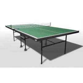 Теннисный стол всепогодный композитный на роликах WIPS Roller Outdoor Composite + сетка с креплениями в подарок (зеленый)
