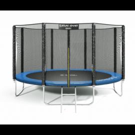 """Батут """"Atlas Sport"""" (14ft) Basic BLUE с внешней сеткой и лестницей. Диаметр - 435 см. Нагрузка - 180 кг."""