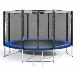 """Батут """"Atlas Sport"""" (14ft) PRO BLUE с внешней сеткой и лестницей(усиленные опоры). Диаметр - 435 см. Нагрузка - 180 кг."""