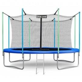 """Батут """"Atlas Sport"""" (12ft) BLUE с внутренней сеткой и лестницей. Диаметр - 374 см. Нагрузка - 150 кг."""